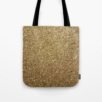 rose gold Tote Bags featuring Gold by Rose Wierts
