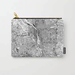 Portland White Map Carry-All Pouch