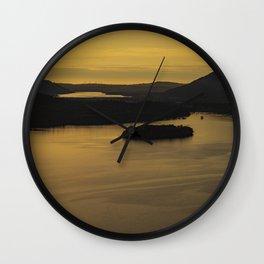 Derwentwater sunset Wall Clock