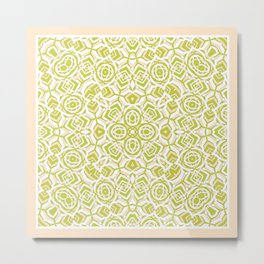 Zebra - Abstract 2 Lt. Olive Metal Print