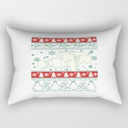 Hot rod christmas Rectangular Pillow