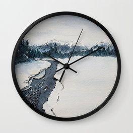 Winter, Kananaskis Country Wall Clock