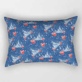 Snowy Princess Castle Rectangular Pillow