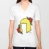 sia V-neck T-shirts featuring SIA BOB 2 by Melina Espinoza