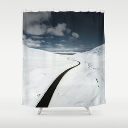westfjords aerial view Shower Curtain
