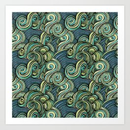 Sea Dragon pattern Art Print