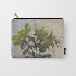 Green Flower Painting Carry-All Pouch