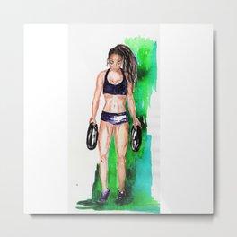 Gym Girl 2 Metal Print
