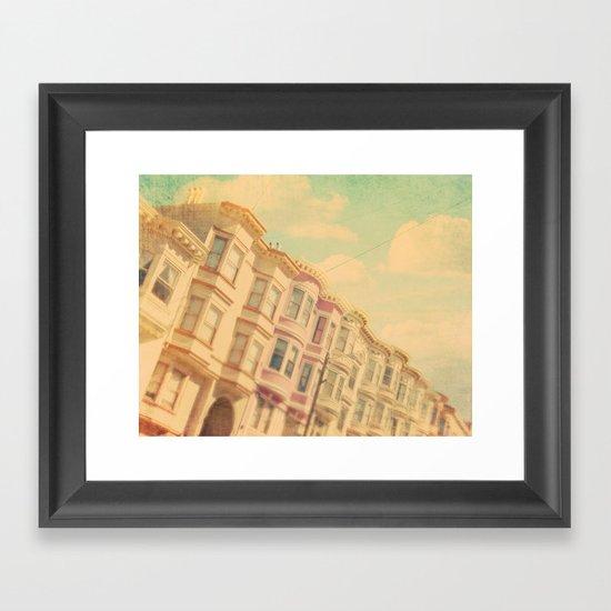 Sweet San Francisco. SF photograph Framed Art Print