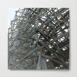 Abandoned Coaster IV Metal Print