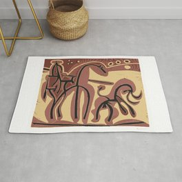 Picador et Taureau (Picador and Bull), 1959, Pablo Picasso, Artwork For Shirts, Posters, Bags, Tapes Rug