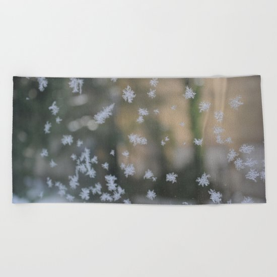 "It's frosty ""Ice Flower"" #2 #art #society6 Beach Towel"