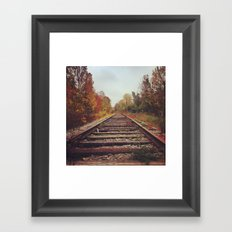 In this moment: The leaves. My breath. Framed Art Print