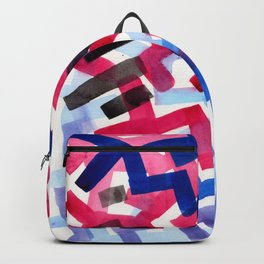 Colorful Watercolor Painting Pattern African tribal Pattern Abstract Art Mid Century Modern Backpack