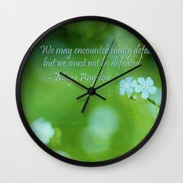 Inspire Me Wall Clock