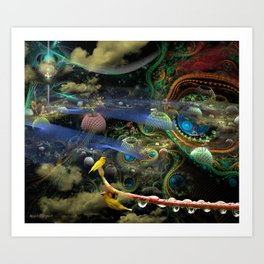 The Bioluminoidal Fractalization Process Art Print