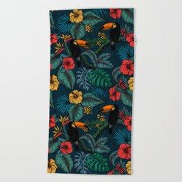 Tropical garden 2 Beach Towel