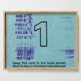 Ilium Public Library Card No. 1 Serving Tray