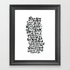 One Ring  Framed Art Print