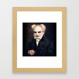 Black Metal Schopenhauer Framed Art Print