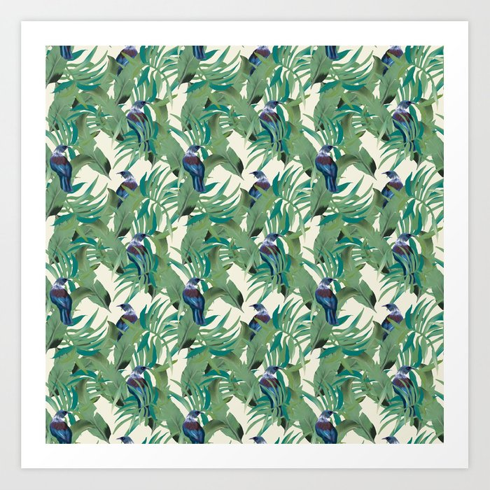Tuis and Palms Art Print