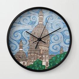 paris montmatre Wall Clock