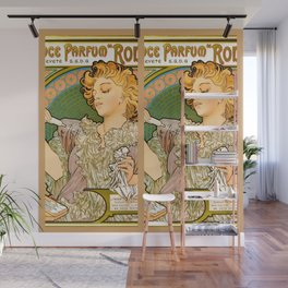 "Alphonse Mucha ""Lance parfum Rodo"" Wall Mural"