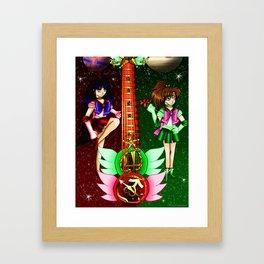 Fusion Sailor Moon Guitar #26 - Sailor Mars & Sailor Jupiter Framed Art Print