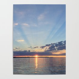 A Seattle Sunset Poster