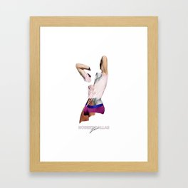 """""""PINK AND PURPLE"""" BY ROBERT DALLAS Framed Art Print"""