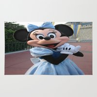 minnie Area & Throw Rugs featuring Minnie Mouse by Jackash14