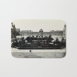 Tuileries from the Louvre Bath Mat