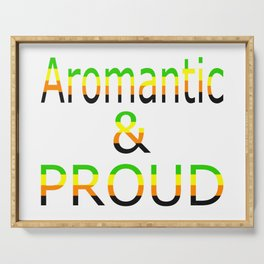 Aromantic and Proud (white bg) Serving Tray