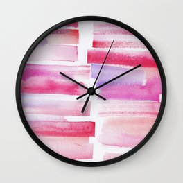 20 | 181101 Watercolour Palette Abstract Art | Lines | Stripes | Wall Clock