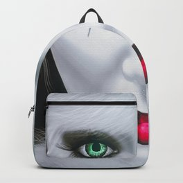 Harlequin Eyes Of A Different Color Backpack
