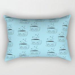 A cup of snow flakes Rectangular Pillow
