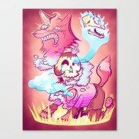 kitsune Canvas Prints featuring Kitsune by TheNazzaro