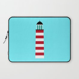Lighthouse in red an white Laptop Sleeve