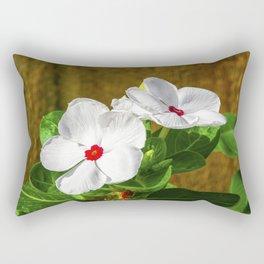 Vincas in the Morning Rectangular Pillow