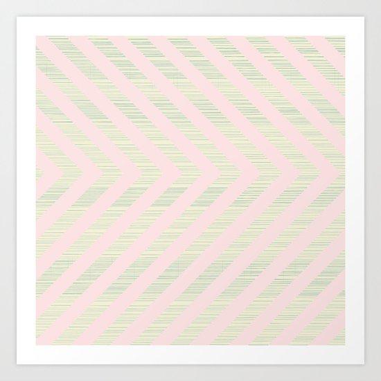 Pink Arrows Art Print