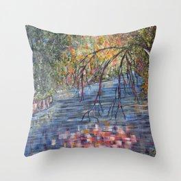 Lazy River Days Throw Pillow