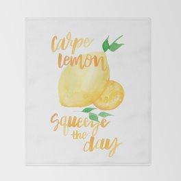 Carpe Lemon : Squeeze the Day Throw Blanket