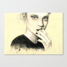 mistery girl Canvas Print