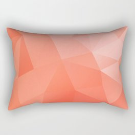 pink coral geometry Rectangular Pillow