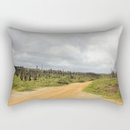 Grey Clouds over Bonaire Island in the Caribbean Rectangular Pillow