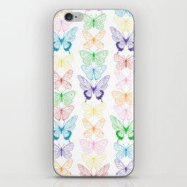 Butterfly Rainbow iPhone Skin