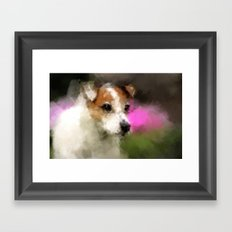 Margo in Forest Hill Garden Framed Art Print