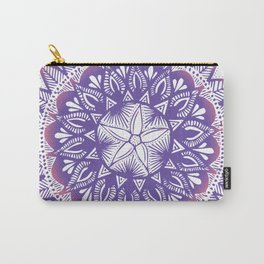 Purple-Pink Mandala Carry-All Pouch