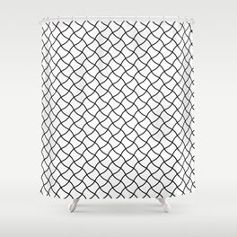 Diagonal Fish Net Shower Curtain