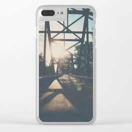 crossing the Mississippi ... Clear iPhone Case